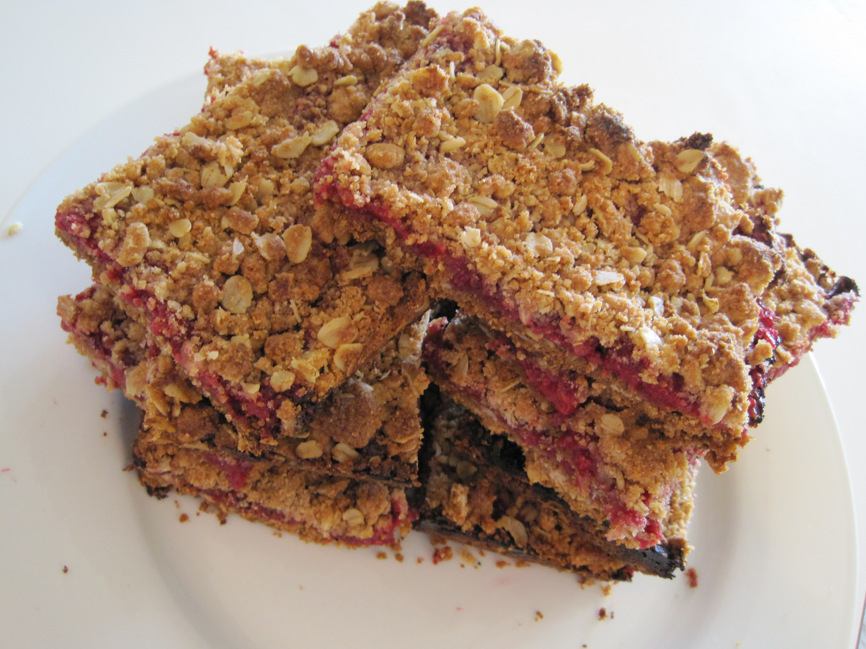 Raspberry Breakfast Bars | The Naked Baker